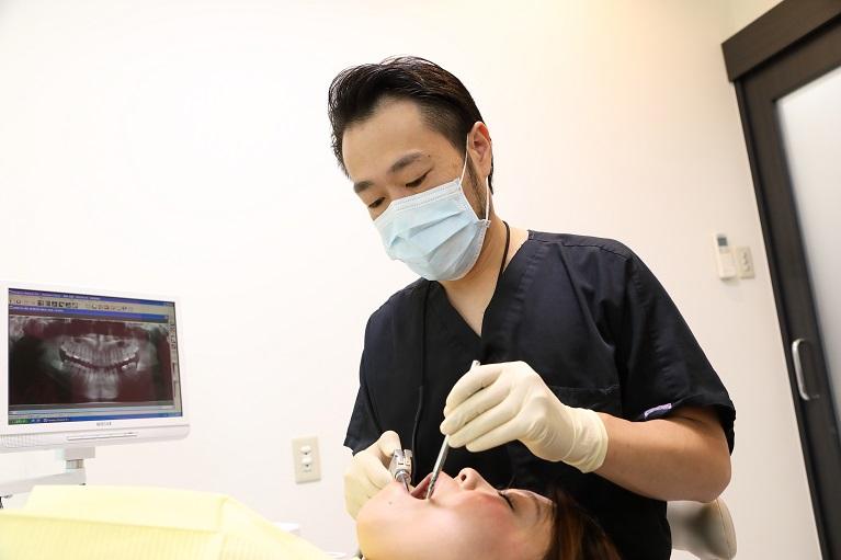 前歯のセラミック矯正前の検査